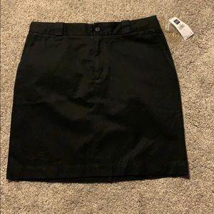 NWT Gap black khaki skirt size 8